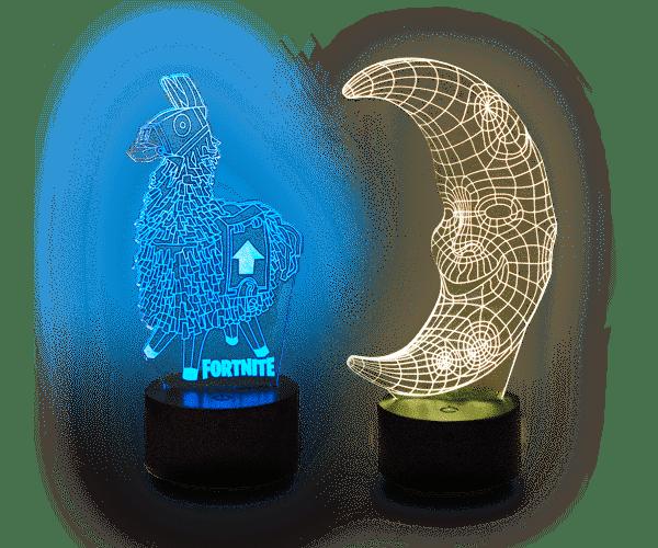 Een ruime keuze aan 3D-lampmodellen!
