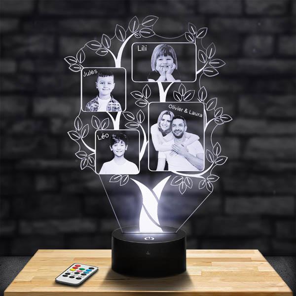 Customised 4 Photo Tree Lamp