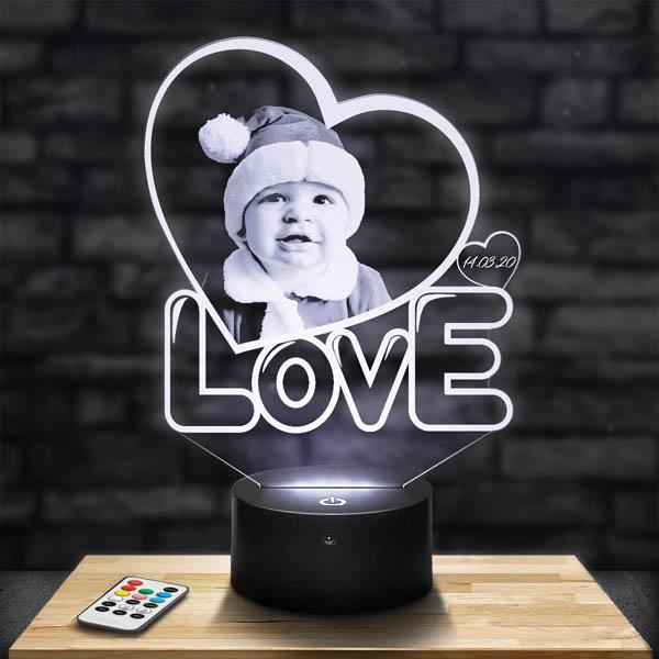 Customised Love Heart Lamp