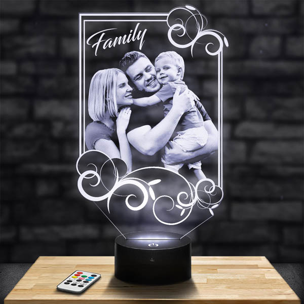 Customised Lamp Rectangle Ornaments