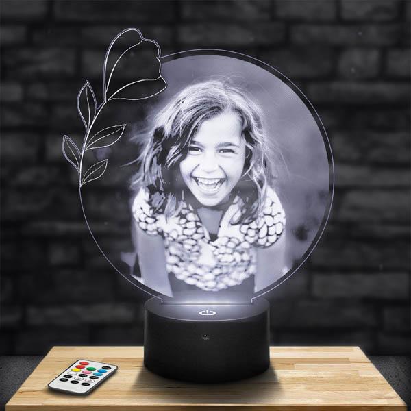 Customised Round Flower Lamp
