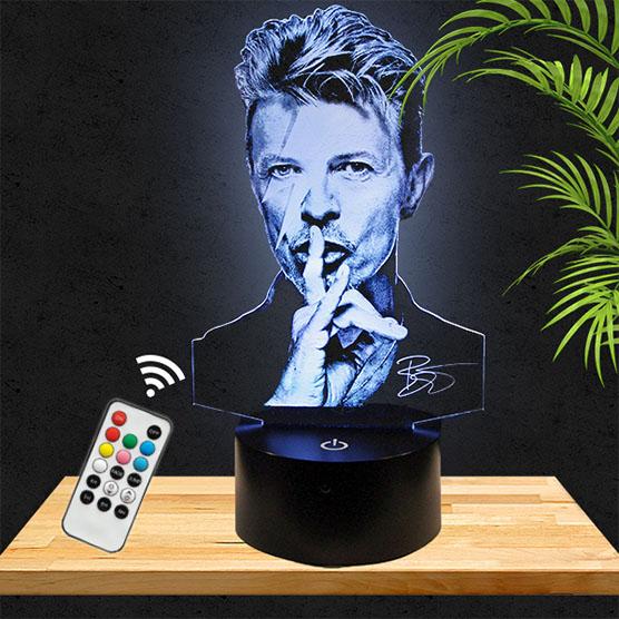 Lampe 3D David Bowie pictyourlamp.com