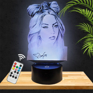 Lampe 3D Lady Gaga pictyourlamp.com