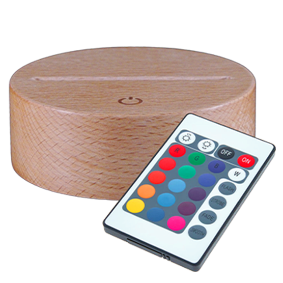 7 colours solid wood base round with touch sensitive (23€)