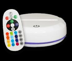 16 colours Premium White LED Base + remote control (€23)