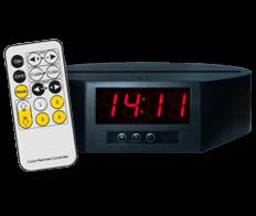 7 colours LED Clock Base + remote control (€28)