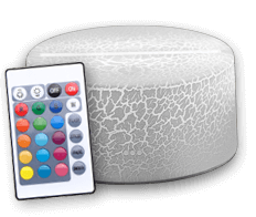 16 colours cracked white base with touch-sensitive + remote control (18€)